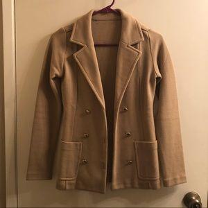 Khaki blazer coat
